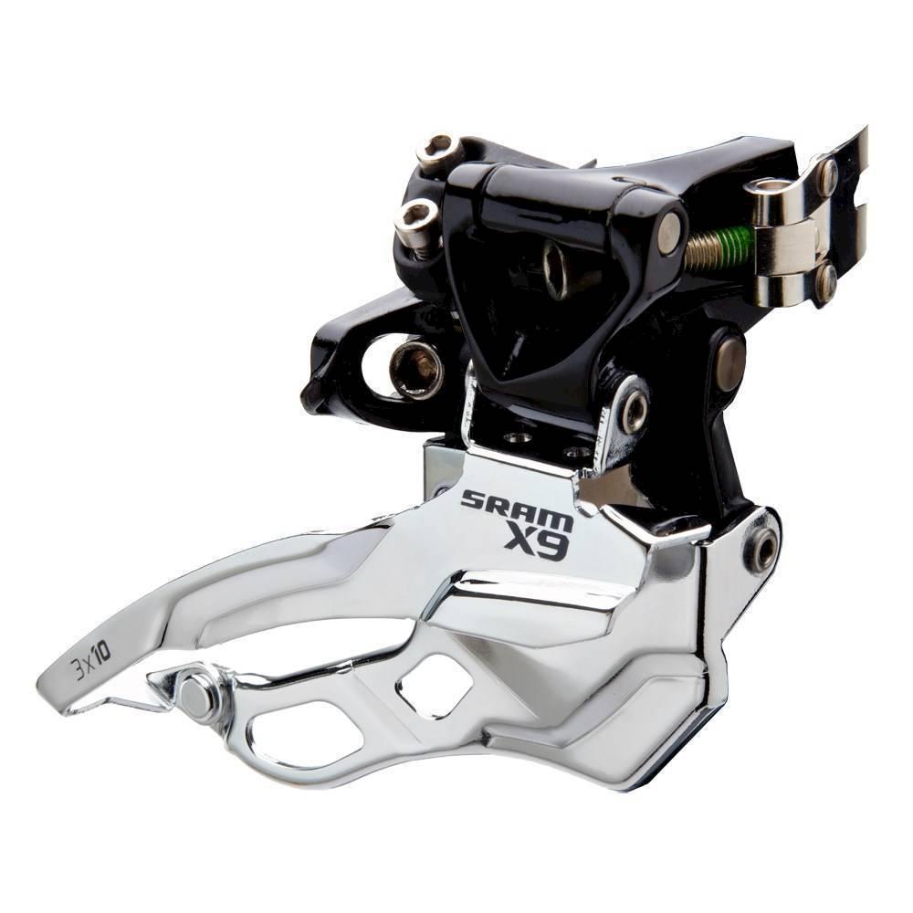 Přesmykač SRAM AM FD X9 3X10 HI CLAMP 318 BTMPULL