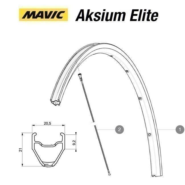 MAVIC KIT FRONT/REAR RIM AKSIUM ELITE (V2290715) Množ. Uni