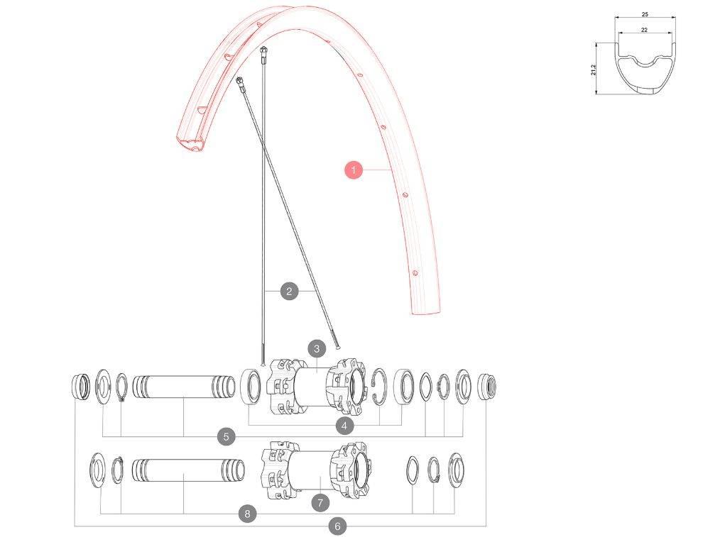 MAVIC KIT FRONT/REAR RIM CROSSMAX 29'' 22TSS (V2317915) Množ. Uni