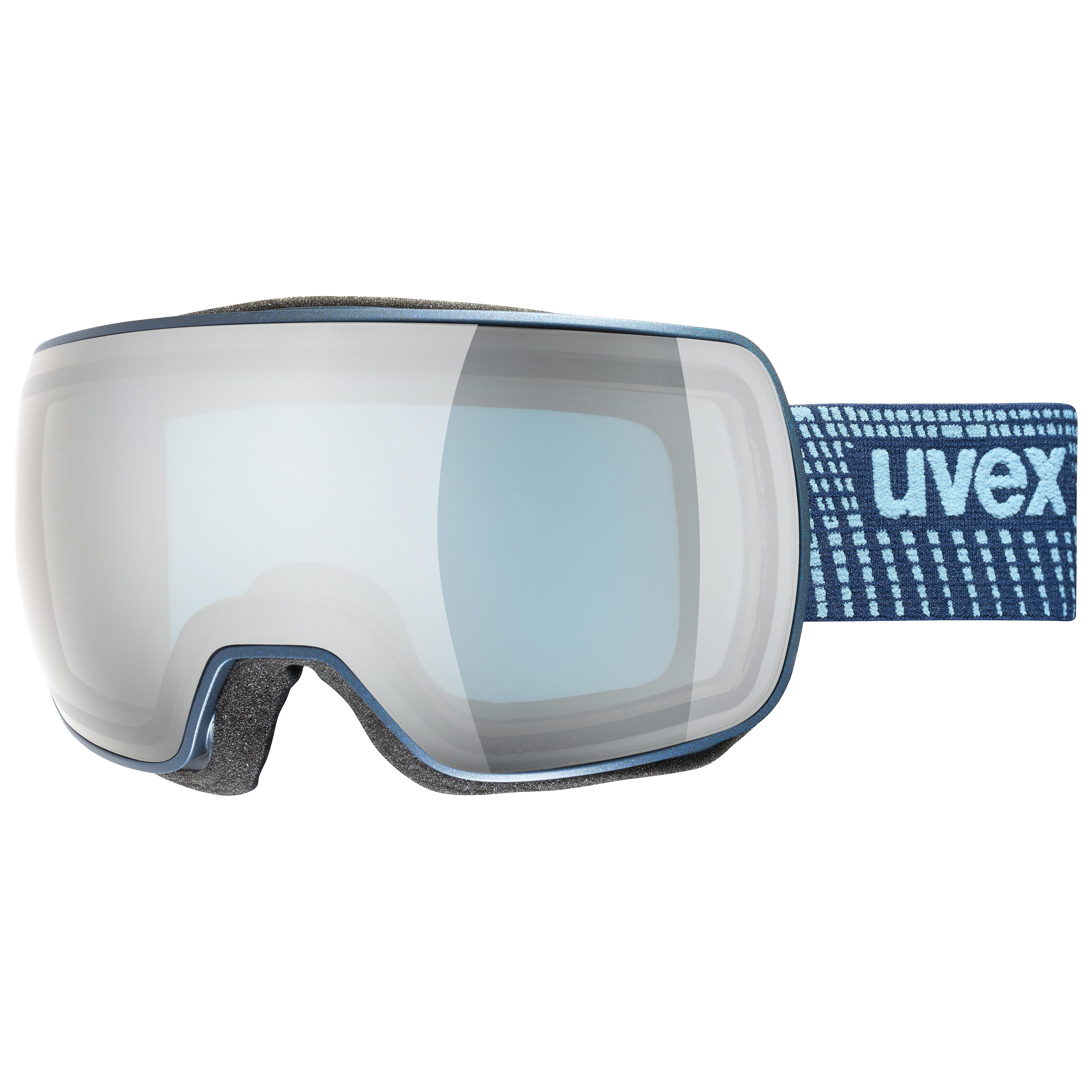 lyžařské brýle UVEX  COMPACT FM, navy mat dl/silver-blue (4030) Množ. Uni