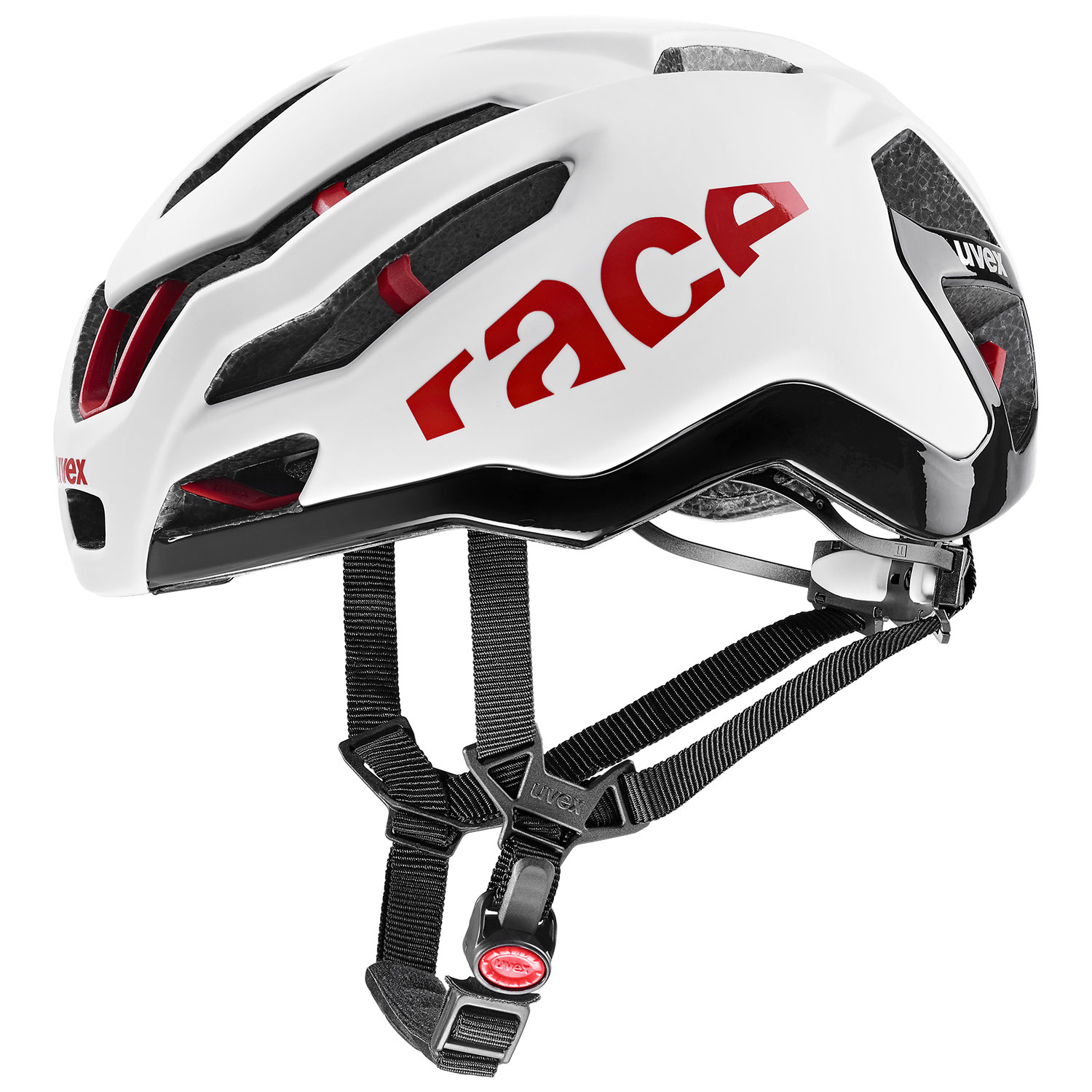 2021 UVEX HELMA RACE 9, WHITE - RED 58-61