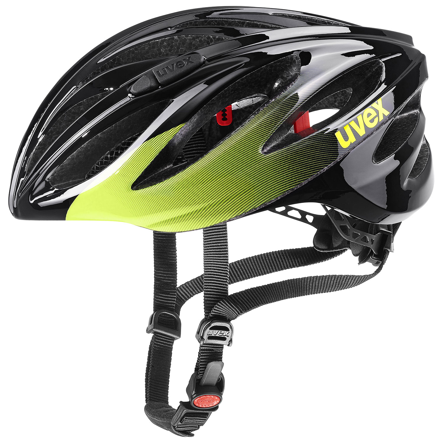 2021 UVEX HELMA BOSS RACE, BLACK - LIME 52-56