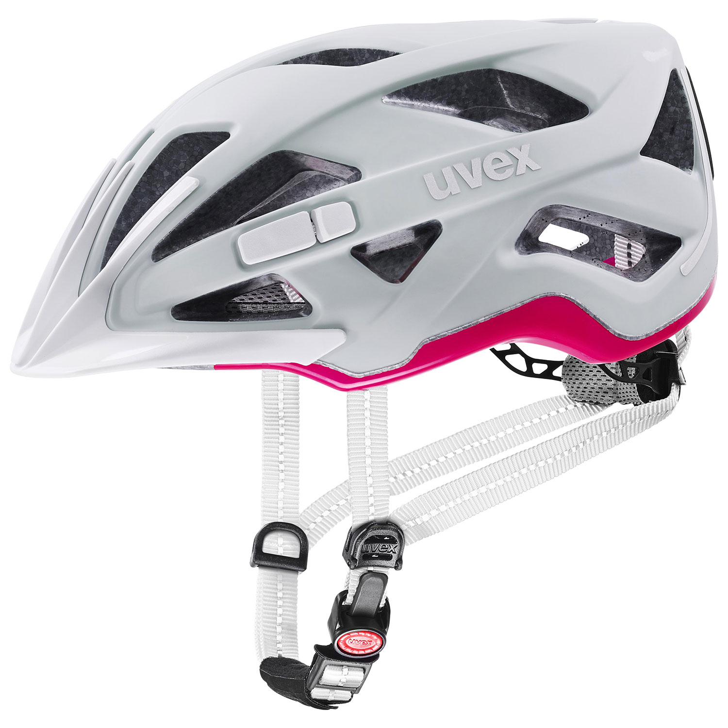 2021 UVEX HELMA CITY ACTIVE, PAPYRUS - NEON PINK MAT 52-57