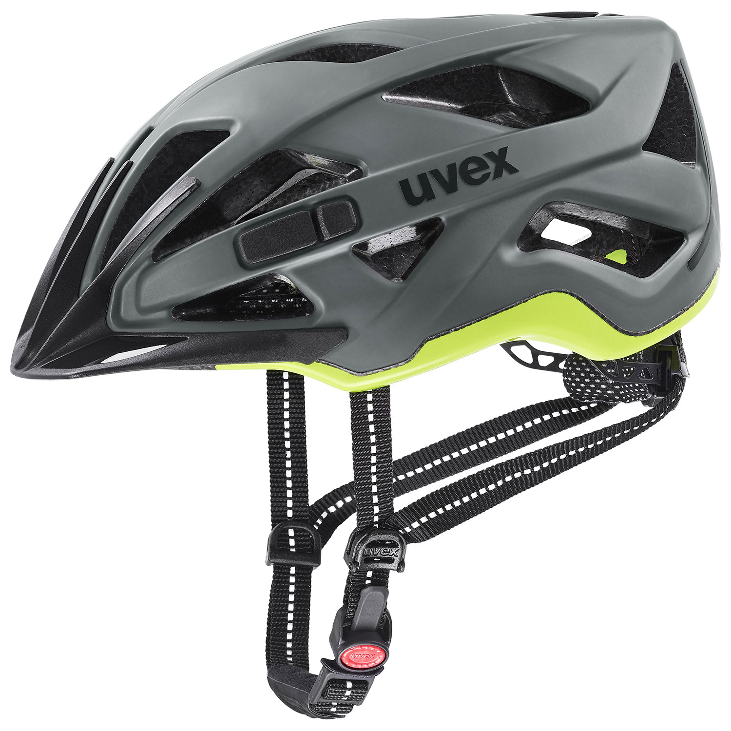 2021 UVEX HELMA CITY ACTIVE, ANTHRACITE - LIME MAT 56-60