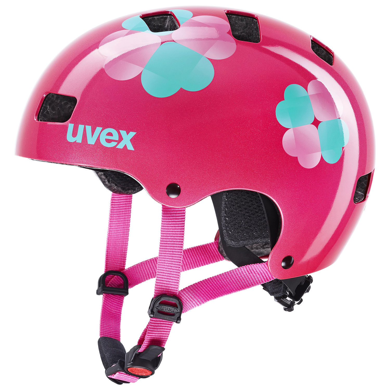 2021 UVEX HELMA KID 3, PINK FLOWER 55-58