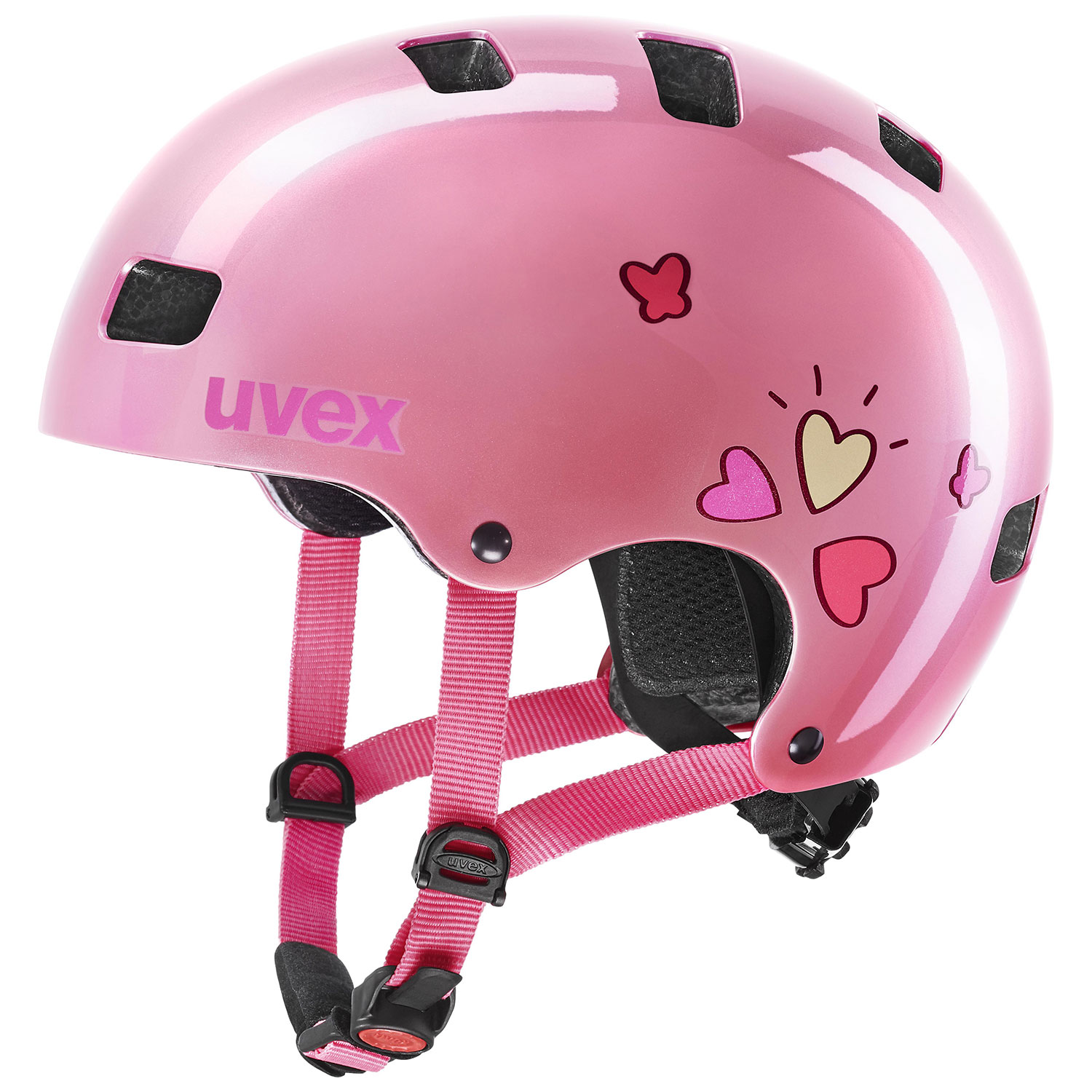 2021 UVEX HELMA KID 3, PINK HEART 51-55